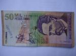 monedas de America - Colombia -  Bco.de la Rep.Cincuenta Mil Pesos-Escrito:Jorge Isacs (Anverso)