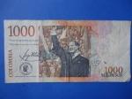 monedas de America - Colombia -  Bco.de la República Un Mil Pesos-Concentración Pública del Dr.Jorge Eliécer Gaitán (reverso)