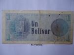 monedas de America - Venezuela -  Rep.Bolivariana de V/zuela- Un Bolívar-Efinges,Escudo Nacional (Revreso)