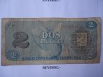 monedas de America - Venezuela -  Rep.Bolivariana de V/zuela- Dos Bolívares- Efinges y el Número Dos (reverso)