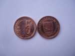 monedas de America - Venezuela -  Rep.Bolivariana de Venezuela- 5 Céntimos 2009-(anverso y reverso)