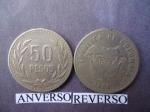 monedas de America - Colombia -  50,oo Pesos (anv.)- Rep. de Colombia, Escudo de Armas (rev)