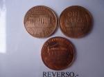 monedas de America - Estados Unidos -  Monedas de 1 Cent 1957,1966 y 2010 (rev)