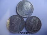 monedas de America - Venezuela -  Tres Bolívares de Plata -ley 8350.
