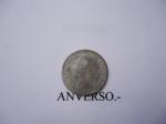 monedas de America - Venezuela -  25 Centimos (Medio) de Plata, ley 8350-Cara del Libertador.