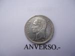 monedas de America - Venezuela -  50 centimos (Medio) de Plata ley 8350.