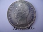 monedas de America - Venezuela -  2 Bolivares de Plata Ley 835
