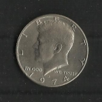 monedas de America - Estados Unidos -  Kennedy / Anverso.