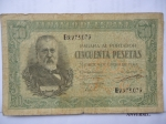 monedas de Europa - España -  Banco de España- Mendez Pelayo-50 Pesetas- Año 1940