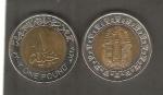 monedas de Africa - Egipto -  Máscara deTutankamón, Faraón de Egipto