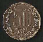 monedas de America - Chile -  MONEDA DE CHILE CINCUENTA PESOS - FRONTAL