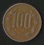monedas de America - Chile -  MONEDA DE CHILE CIEN PESOS - FRONTAL