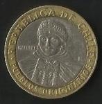 monedas de America - Chile -  MONEDA DE CHILE CIEN PESOS - PUEBLOS ORIGINARIOS - POSTERIOR