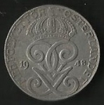 monedas de Europa - Suecia -  MONEDA DE SUECIA - CORONAS (POSTERIOR)