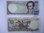monedas de America - Venezuela -  Simón Bolívar  (Anverso) - Orquídeas Venazolanas y Escudo (Reverso)