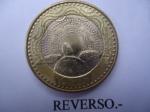 monedas de America - Colombia -  República de Colombia - $1.000- Tortuga de Caguama - $1.000 (Reverso)