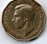 monedas de Europa - Reino Unido -  georgius vI f:d:ind:imp