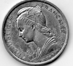 monedas de Europa - Francia -  reunion