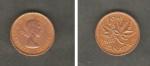 monedas de America - Canadá -  Reina Elizabeth II y hoja de arce
