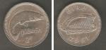 monedas de Europa - Irlanda -  Salmón y Un arpa Escudo de armas de Irlanda