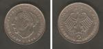 monedas de Europa - Alemania -  Theodor Heuss, y águila