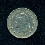monedas de America - Argentina -  10 Centavos