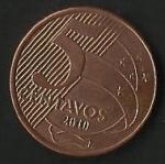 monedas de America - Brasil -  MONEDA BRASIL - TIRADENTES- FRONTAL