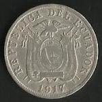 monedas de America - Ecuador -  MONEDA DECIMAL ECUADOR 1917 - POSTERIOR