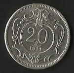monedas de Europa - Hungría -  MONEDA IMPERIO AUSTRO HUNGARO 1911 - FRONTAL
