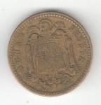 monedas de Europa - España -  1 pta Franco 1953 (*1961) RC
