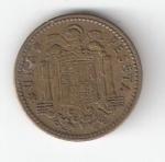 monedas de Europa - España -  1 pta Franco 1953 (*1963) RC