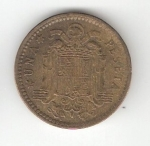 monedas de Europa - España -  1 pta Franco 1963 (*1963) BC