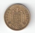 monedas de Europa - España -  1 pta Franco 1966 (*1969) BC