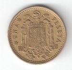 monedas de Europa - España -  1 pta Franco 1966 (*1972) BC