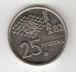 monedas de Europa - España -  25 ptas Juan Carlos I 1980 (*1981) Mundial de Fútbol EBC