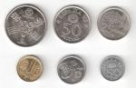 monedas de Europa - España -  Lote 6 monedas Mundial de Fútbol España'82 (*1980) EBC