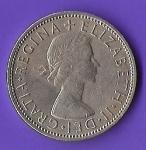monedas de Europa - Reino Unido -  GRATIA REGINA ELIZABETH II REINO UNIDO 1962 (POSTERIOR)