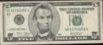 monedas de America - Estados Unidos -  BILLETE 5 DOLARES