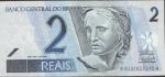 monedas de America - Brasil -  BILLETE 2 REALES