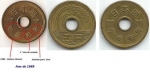 monedas de Asia - Japón -  Moeda 5 YENs 1989