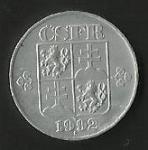 monedas de Europa - Eslovaquia -  MONEDA REP. CHECA Y ESLOV. (POSTERIOR)