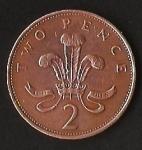 monedas de Europa - Reino Unido -  REINA ELIZABETH II. (FRONTAL)