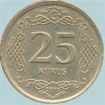 monedas de Asia - Turquía -  25 kurus