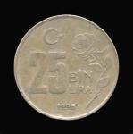 monedas de Asia - Turquía -  25 Liras