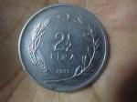 monedas de Asia - Turquía -  2 1/2 Liras