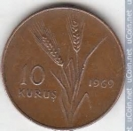monedas de Asia - Turquía -  10 Kurus