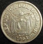 monedas de America - Ecuador -  1963 (Anverso)