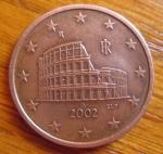 monedas de Europa - Italia -  MONEDA EURO- UNION EUROPEA - REVERSO