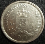 monedas de America - Antillas Neerlandesas -  1971 (Anverso)