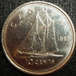 monedas de America - Canadá -  1985 (Reverso)